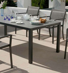 """Cayman rectangular dining table  59"""", brand new, discontinued stock (arctic white frame and ash ceramic top) - 2CY15PH.02.800"""