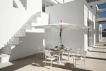 """Cayman circular dining Table 59"""", new, discontinued stock, other furniture not included (arctic white frame and ash ceramic top) - 2CYC15.02.800"""