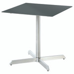 """Equinox square """"bistro"""" table, brand new, discontinued stock (stainless steel frame and slate grey HPL top) - STK1074"""