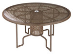 Special Deal: Save an additional $100! woven circular dining table 120cm, brand new, discontinued stock (java color and glass insert) - STK20PU