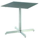 Equinox square pedestal table 70, brand new, discontinued stock (stainless steel frame and storm ceramic top) - 2EQ07.804