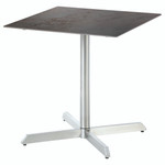 Equinox square pedestal table 70, brand new, discontinued stock (stainless steel frame and oxide ceramic top) - 2EQ07.805