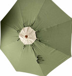 """Napoli circular market umbrella, New Lower Price!  slightly used for trade show, Base not included - 111"""" diameter / 98"""" overall height (Sunbrella® fabric canopy in fern with a Birdseye top vent) - TAG1106"""
