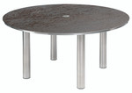 Equinox circular dining table 150, brand new, discontinued stock (stainless steel frame and oxide ceramic top) - 2EQC15.805