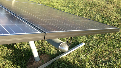 Ground Mount Solar Panel Install