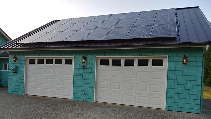 8.4kW Garage Mount Solar System