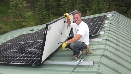 8.82kW Metal Roof Mount System