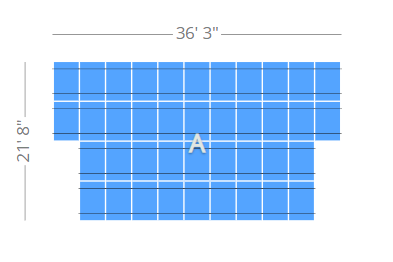 Determine Square Footage of Solar Array