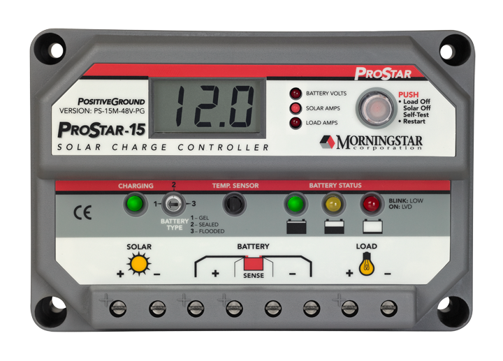 Morningstar ProStar PS-15M-48V PWM Charge Controller - Solaris