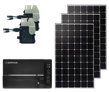 Mono Microinverter Top of Pole Mount Solar Kit