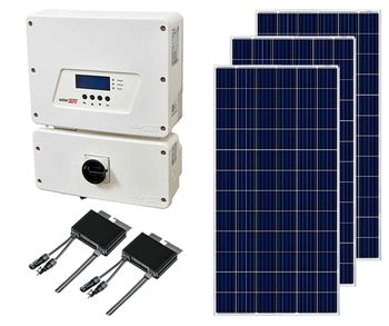 Poly Ground Mount Solar Kit with String Inverter