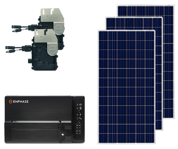 Poly Ground Mount Solar Kit with Microinverters