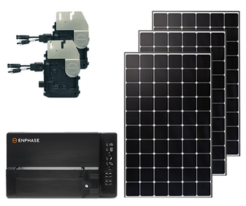 Mono Ground Mount Solar Kit with Microinverters