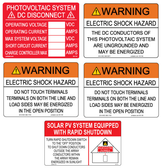 PV DC String Inverter Label Kit