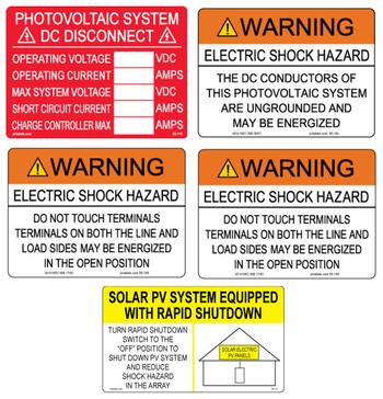 PV AC String Inverter Label Kit