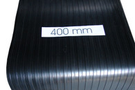 Running board rubber - Heavy Classic wide flat top rib : 3mtr. coil