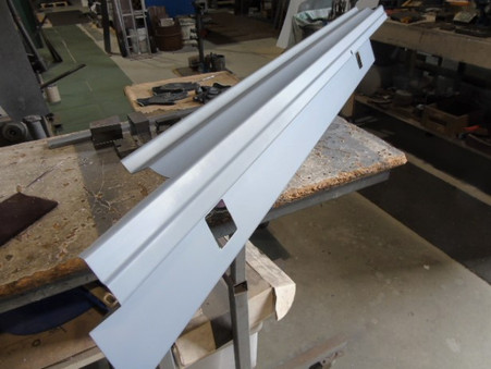 This panel fits between the Taillights. And takes the lower beaver panel. Also See: stand off support brackets