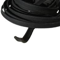 Bonnet Lacing - 15 mm Black cotton dog bone shape