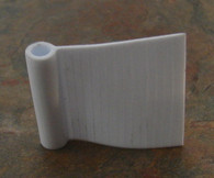 Mudguard Piping Plastic Medium White 6mm head