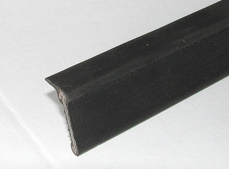 Rubber and metal weather strip