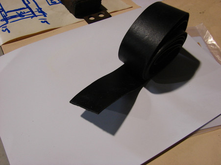 Just 1 mm thick and 38mm wide Un cured rubber.
