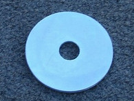"Mudguard Washer Zinc plated 5/16"" hole x one and 1/2"" diameter"