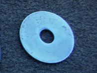 "Mudguard Washer Zinc plated 3/8"" hole x one and 1/2"" diameter"