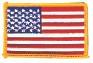 "USA Flag (Gold Border) 2.5"" x 3.5"""