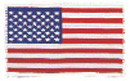 "USA Flag (White Border) 2.5"" x 3.5"""