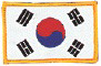 "Korea Flag (Gold Border) 2.5"" x 3.5"""