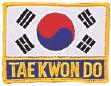Korea Flag + TKD Patch