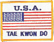 "USA TKD Patch 3"" x 4"""
