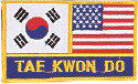 "2 Flag + TKD Patch (Small) 2.75"" x 3.75"""