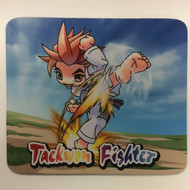 Taekwondo Themed Mouse Pad - Cartoon Kick Earth