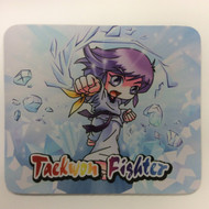 Taekwondo Themed Mouse Pad - Cartoon Punch Ice