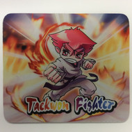 Taekwondo Themed Mouse Pad - Punch Fire