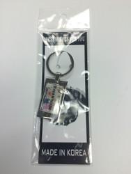 TKD Themed Key Chains - Small TKD White