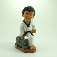 Martial Arts Figurines; Boy Breaking Bricks