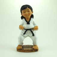 Martial Arts Figurines; Girl Ready Stand