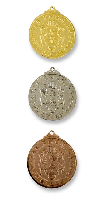 Front View of Taekwondo Medals