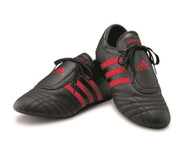 Adidas SMII Black Martial Arts Shoes with Red Stripes; Size 4 1/2