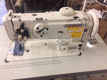 Yamata-1541S-Single-Needle-Walking-Foot-Sewing-Machine W Table Stand & 3/4 HP Servo-Motor-NEW