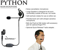 The Python Boom Microphone offers clear communication and comfort.