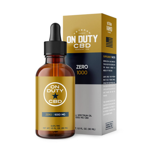 On Duty Zero CBD Oil contains Isolated CBD and 0% THC.