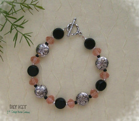 Butterfly Bracelet Pewter Coin Bead Kit
