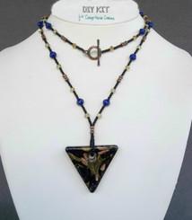Triangled Glass Pendant Bead Kit Murano Style