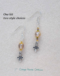 Fleur De Lis Beaded Earring kit