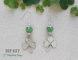 Clovers Beaded DIY Earring Kit
