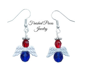 Patriotic Angel Earrings Finished Pieces