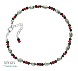 Ladybugs~  Jewelry Making Supply Anklet Bead Kit